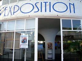 Facade de la Galerie d`expo du Cours de l`Europe à Royan