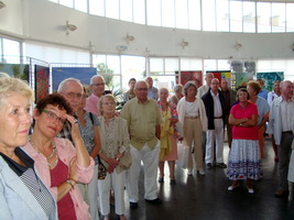 groupe lors du vernissage exposition pierre regnier à Royan