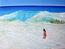 La Jeune Fille et la vague, mer à St-Martin (Antilles)