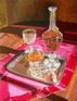 Nature morte à la carafe de cognac huile sur toile pierre régnier