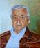 autoportrait au blouson de Pierre Régnier huile sur toile 2011