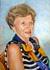 Portrait de Claudine Régnier au foulard 2011 huile sur toile