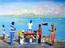 Ecailleurs de poissons à St-Martin n3 huile sur toile