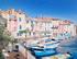 facades et bateaux au port de Martigues près de Marseille.