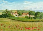Chateau Chapeau Cornu - les 4 saisons - le Printemps huile sur toile