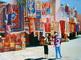 huile sur toile MUR DE Tapis à Marrakech n2