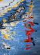 Huile sur toile Reflets marins pierre regnier 2012