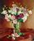 Bouquet de Lisianthus du marche sur nappe