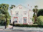 Maison début du siècle à Royan - huile sur toile