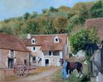 St-Florent - Dordogne - ferme ancienne - huile sur toile