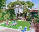 le Jardin de Francoise à Royan - huile sur toile