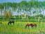 entre roseaux et peupliers 3 chevaux