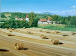 Chateau Chapeau Cornu - les 4 saisons - L`été - huile sur toile