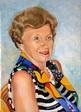 Portrait féminin buste au foulard - huile sur toile