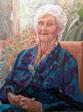 Portrait de Grand-mère - huile sur toile