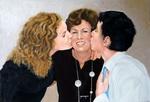Triple Portrait - Fête des Mères - huile sur toile