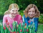 portrait double petites filles modèle